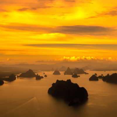Sea Canoe Sunset